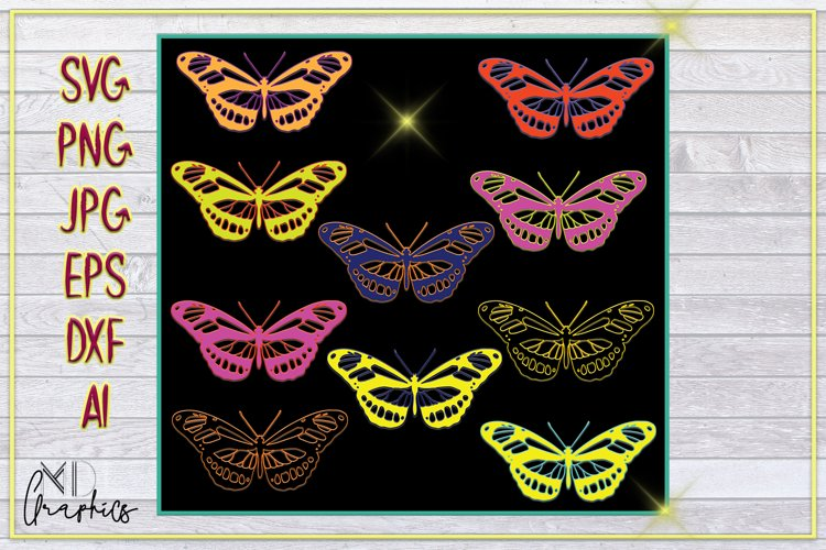 DOWNLOAD BUTTERFLIES PRINTABLE, SVG IMAGES FOR CRICUT, PNG example image 1
