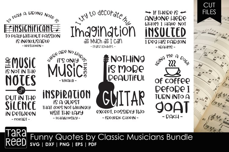 Funny Quotes by Classic Musicians Bundle example image 1