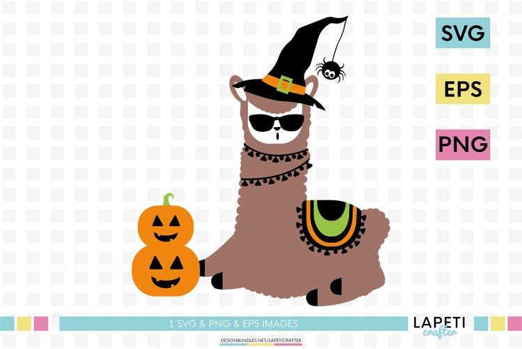 Halloween llama SVG, funny llama vector download, alpaca png example image 1