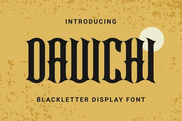 Web Font DAVICHI Font example image 1