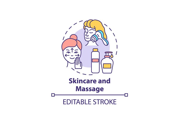 Skincare and massage concept icon example image 1