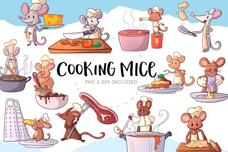 Cooking Mice Illustrations