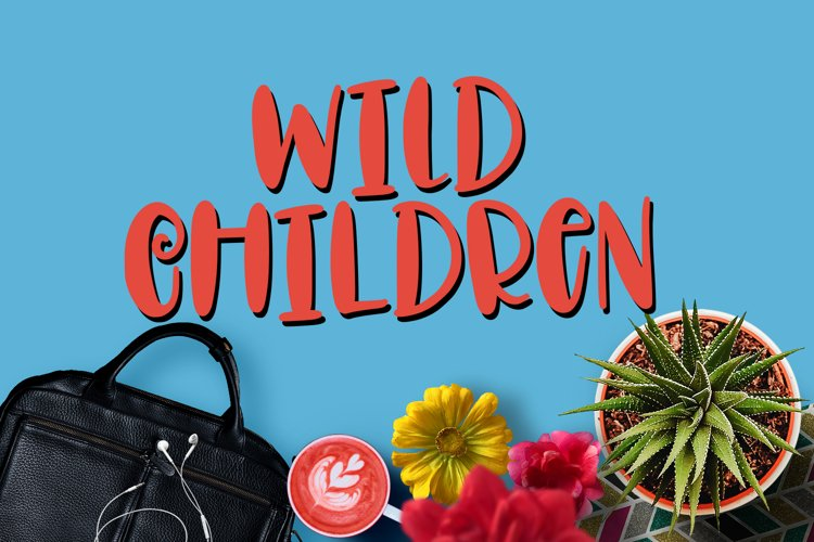 Wild Children - Font  example image 1