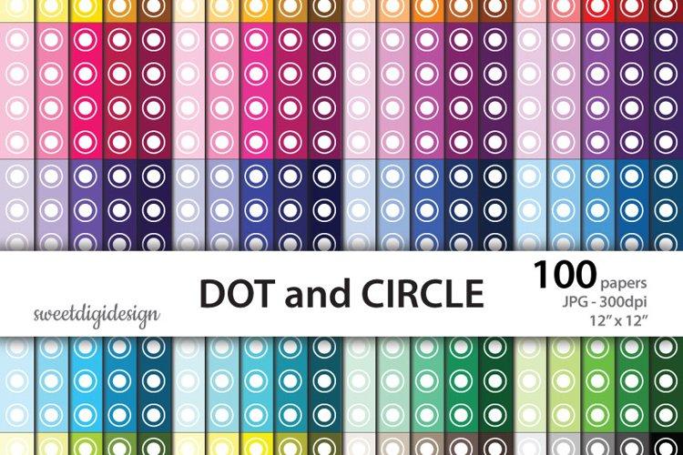 Basic digital paper seamless pattern polka dots and circles example image 1