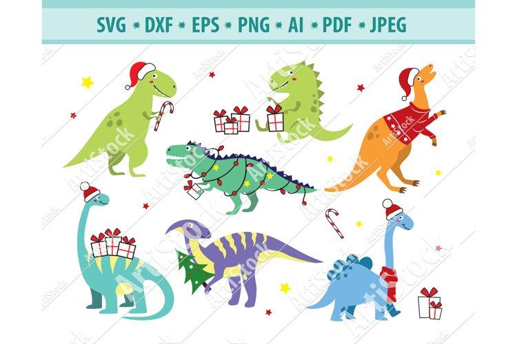Christmas Santa riding t-rex dinosaur PNGs  Commerical use  Xmas Dinosaur clip art  santa dinosaur design