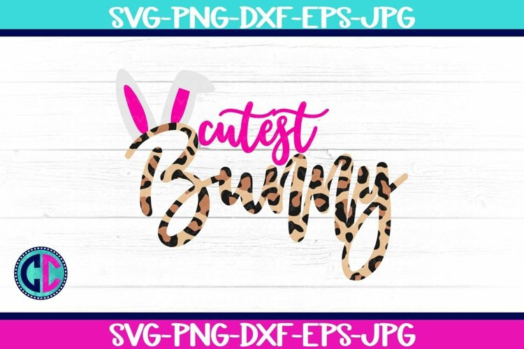 Cutest Bunny Leopard Print SVG example image 1