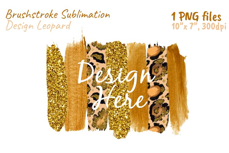 Brush Strokes Leopard Clipart Print