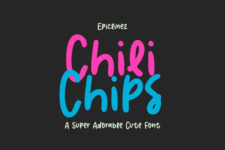 Chili Chips | A Cute Font