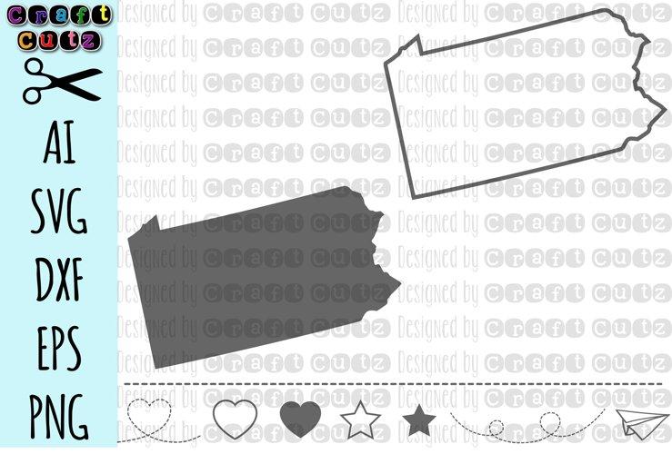 PENNSYLVANIA svg, State svg Files, Pennsylvania Vector, United States svg, State Clip Art, Pennsylvania Cut File, Pennsylvania State Outline example image 1