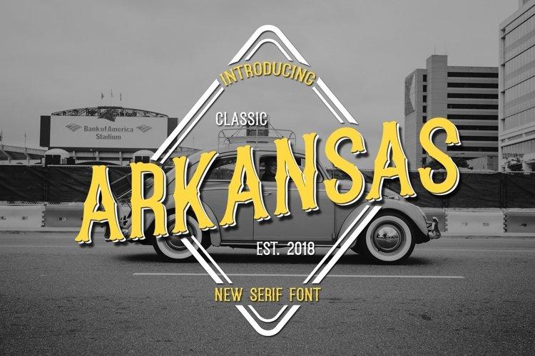 Web Font Arkansas example image 1