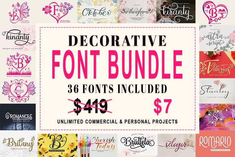 Decorative Font Bundle example image 1