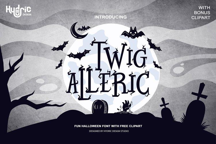 Twig Alleric - Halloween Twig Font example image 1