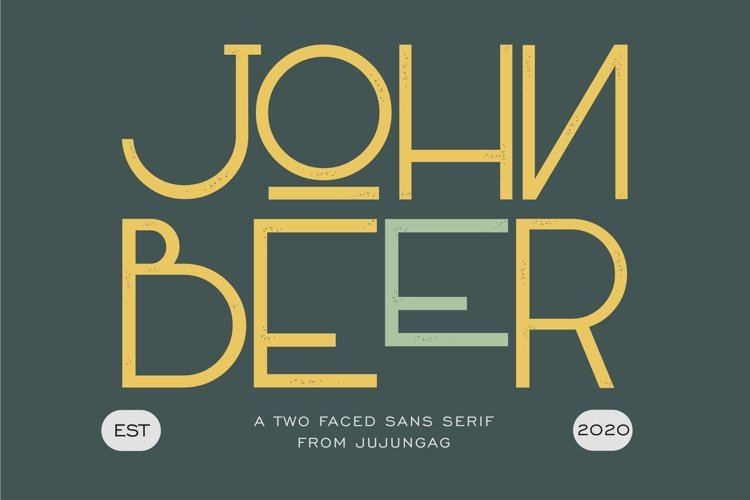 John Beer Two Faced Sans Serif example image 1