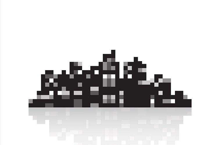 Silhouette of a modern city example image 1