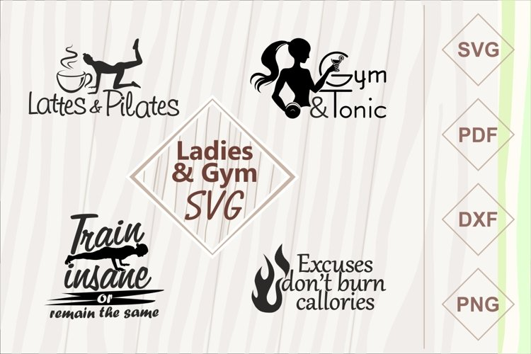 Ladies and gym SVG bundle example image 1