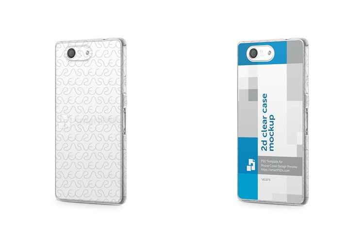 Sony Xperia Z3 Compact 2d Clear Mobile Case Mockup 2014 example image 1
