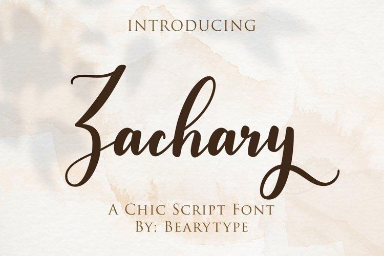 Zachary - Modern Calligraphy