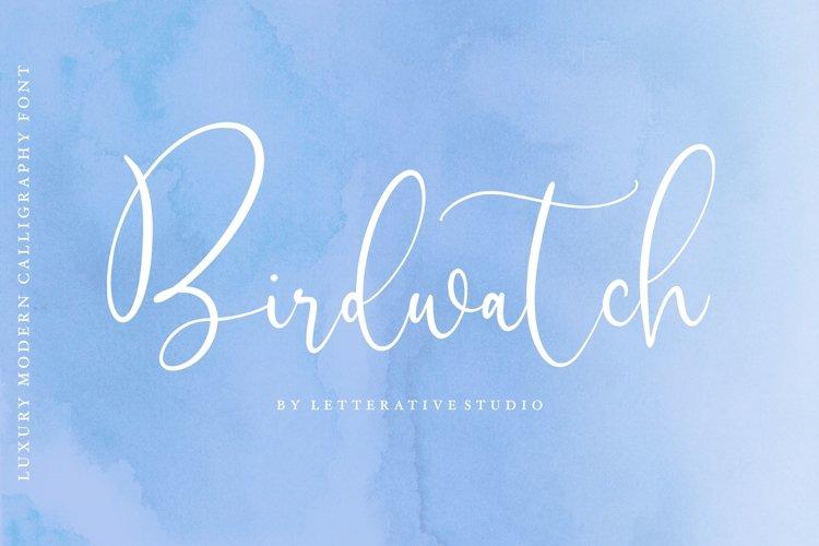 Birdwatch Luxury Modern Calligraphy Font example image 1