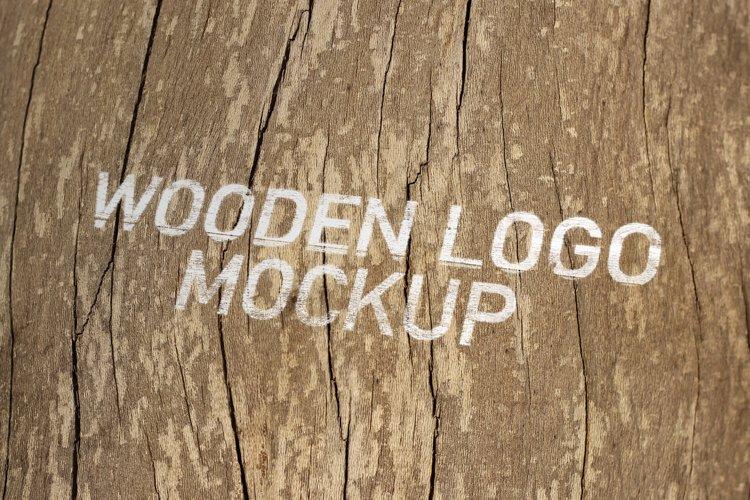 Wooden Logo Mockup example image 1