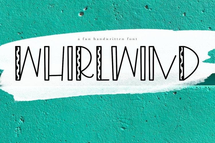 Whirlwind - A Fun Handwritten Font example image 1
