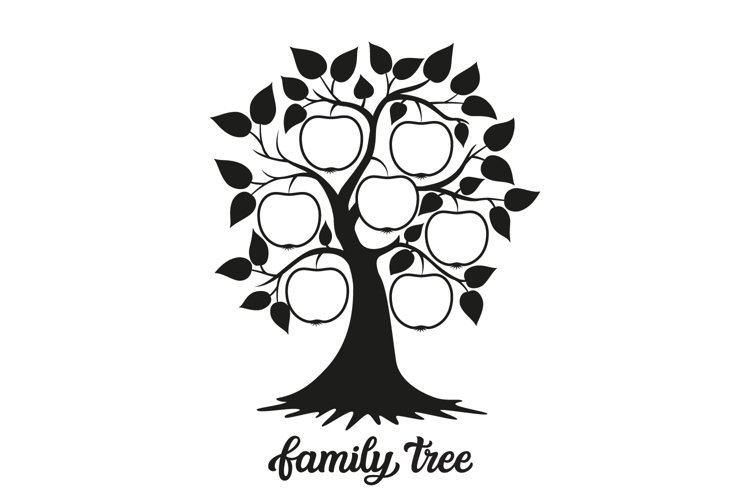 Family tree SVG cut file example image 1