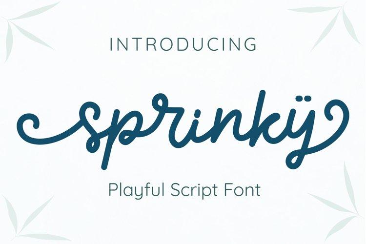 Sprinky - Multilingual Swash Script
