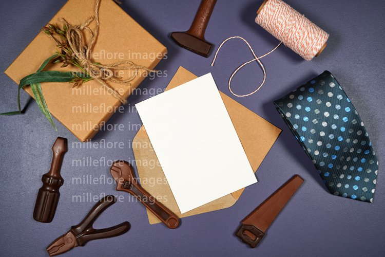 Father's Day Greeting Card SVG Craft Mockup Styled Photo example image 1