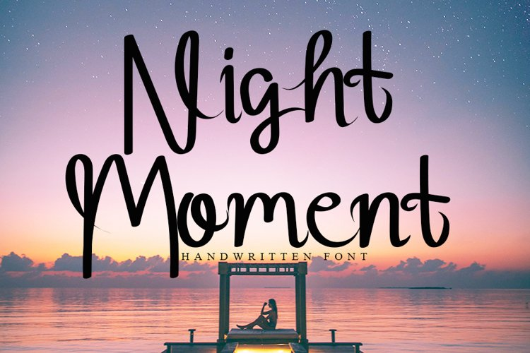 Night Moment - Cute Handwritten Font example image 1
