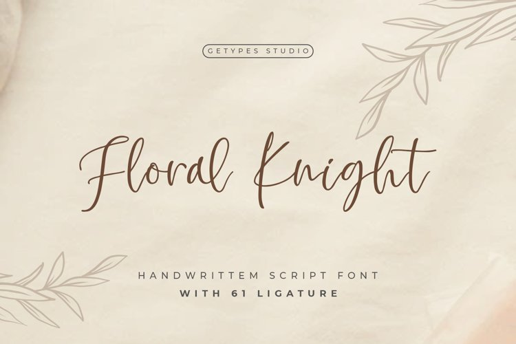 Floral Knight - Modern Handwritten Font example image 1