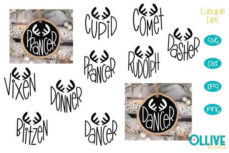 Christmas Reindeer Names Hand Lettered Ornaments Svg Bundle 829755 Cut Files Design Bundles
