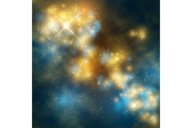 Outer space vector abstrac background with cosmic galaxy and