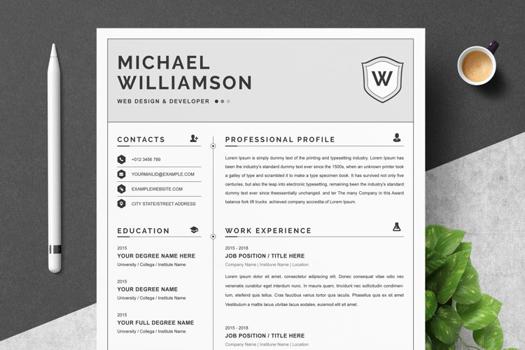Resume Resume   Clean & Professional example image 1