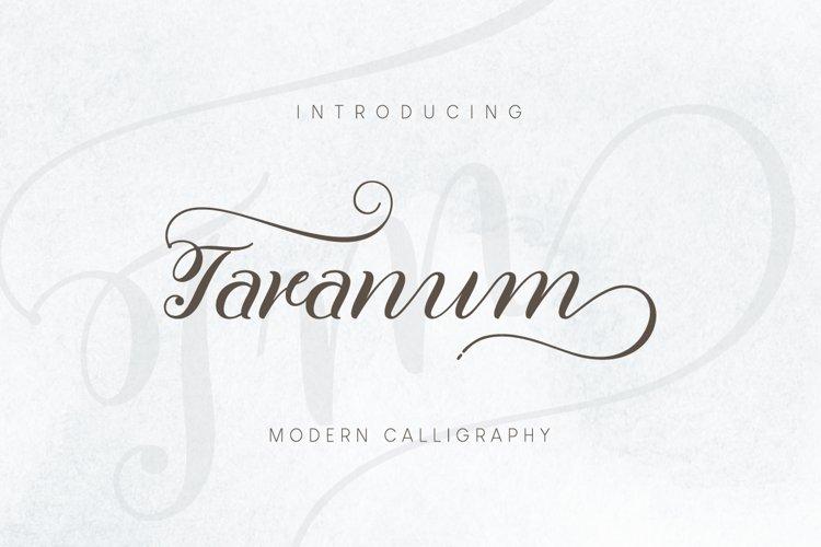 Taranum font Script example image 1