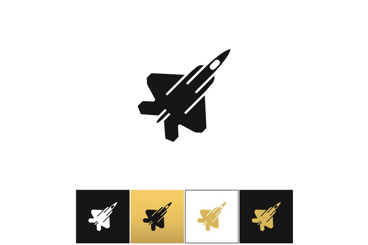 Air force navy airforce vector military plane or fighter jet example image 1