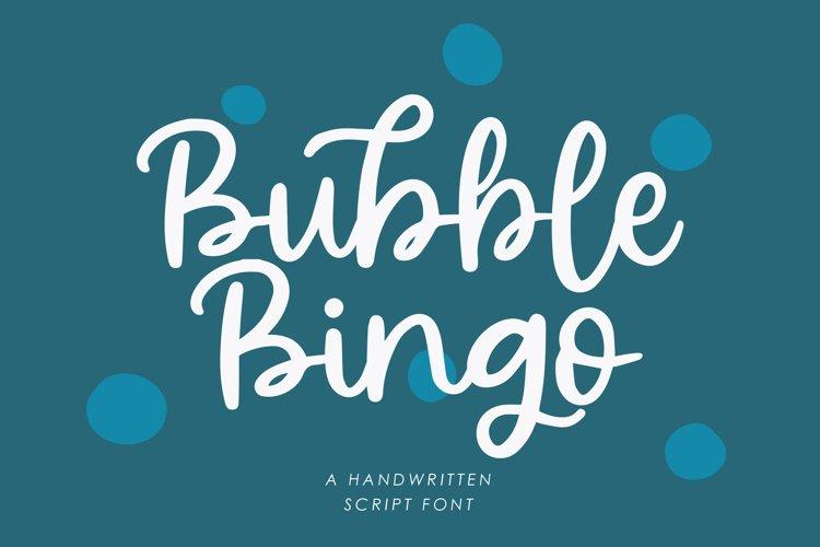 Bubble Bingo - Handwritten Script Font