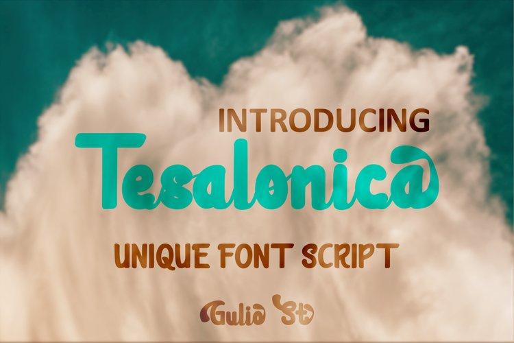 Tesalonica Unique Font Script example image 1