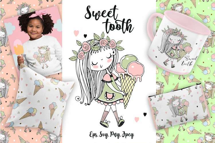 Sweet tooth. Svg, Png
