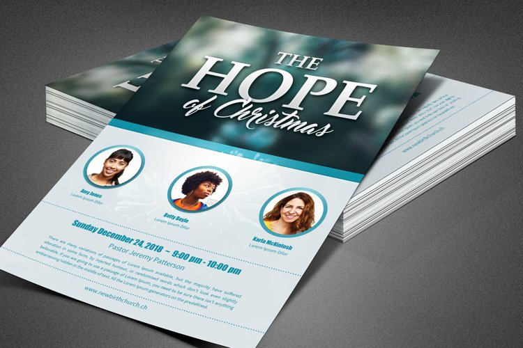 The Hope of Christmas Church Flyer example image 1
