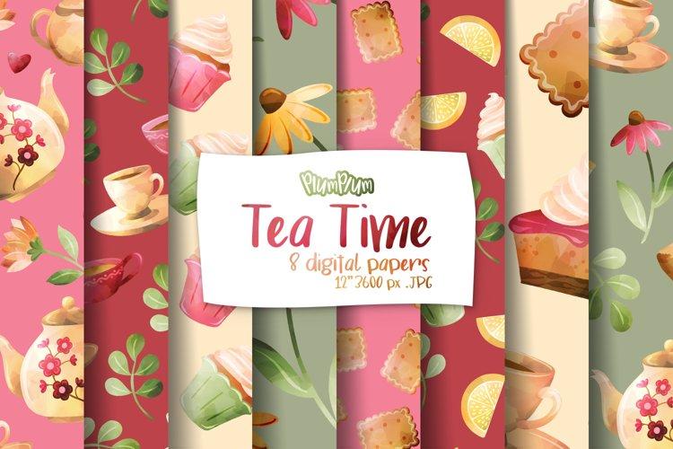 Tea Time Digital Papers