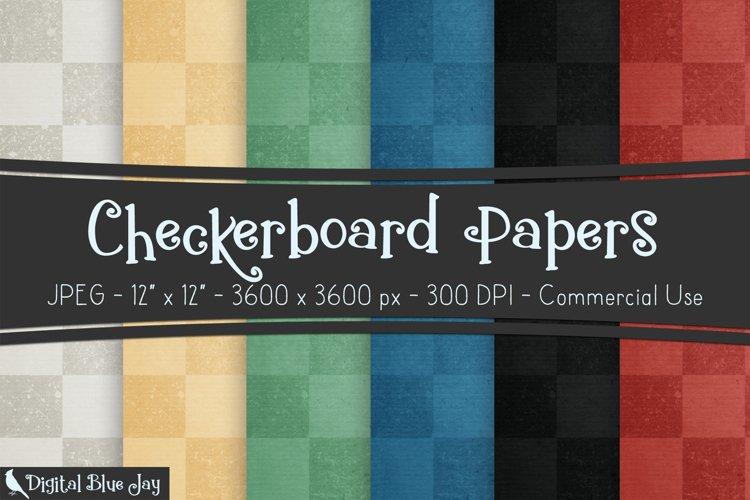 Digital Scrapbook Paper Backgrounds - Checkerboard