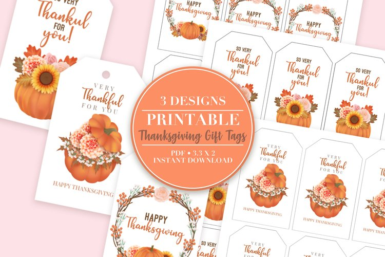 Thanksgiving Printable Gift Tags example image 1