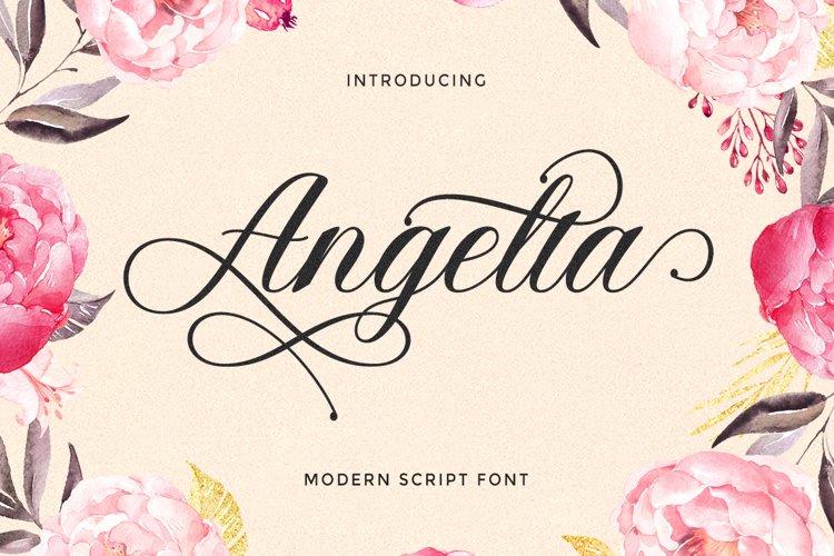 Angelta Script example image 1