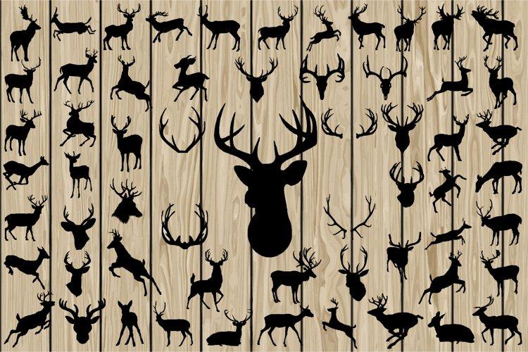 60 Deer SVG, Deer EPS, Deer Vector, Deer Silhouette Clipart example image 1