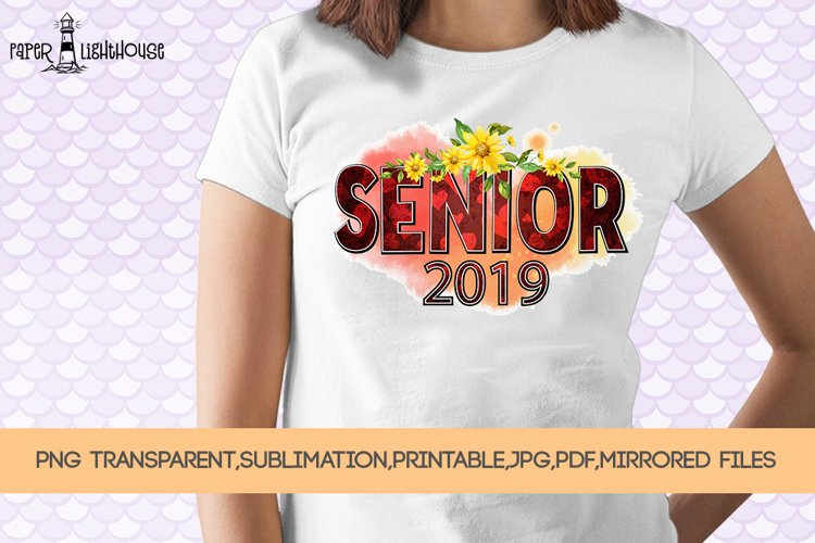 Senior 2019 - Graduation clipart, sublimation, iron on files