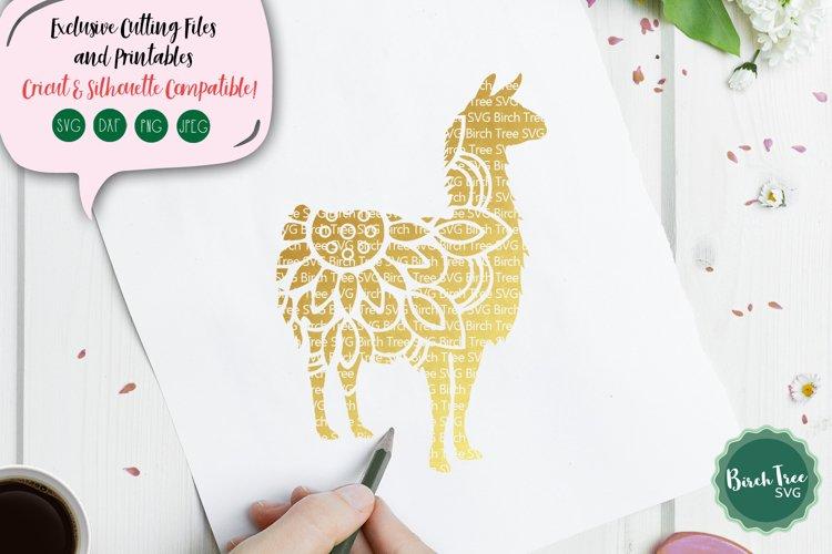 Llama Mandala Svg, Llama Svg Cut File, Llama Clipart Design