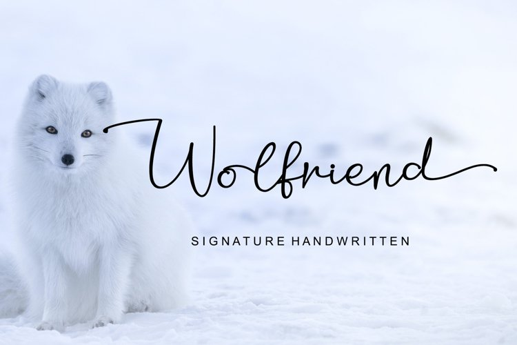 Wolfriend - Signature Handwritten Font example image 1