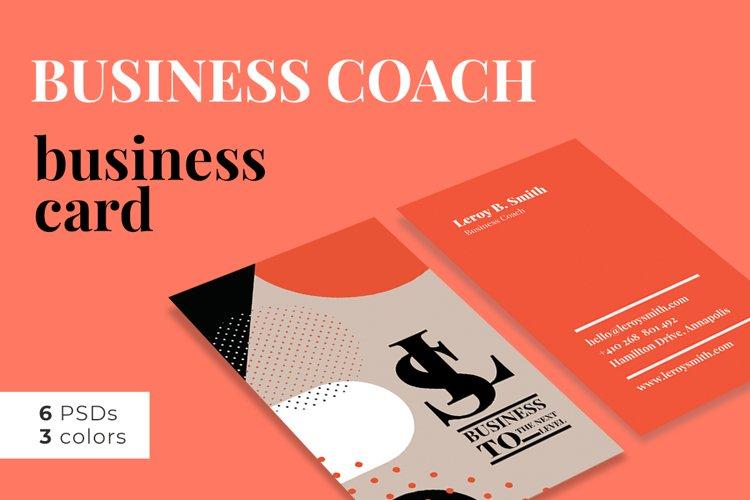 Business Coach Business Card