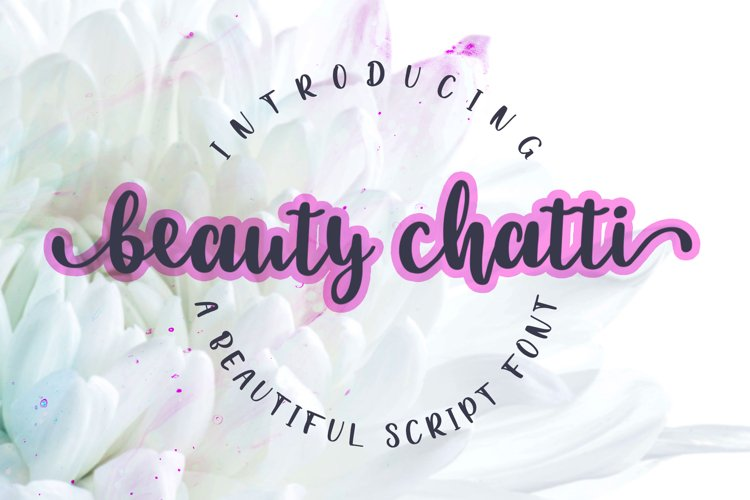 Beauty Chatti Script Font example image 1