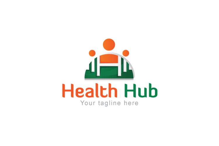Health Hub - Fitness Group Stock Logo Design for Gym & Club example image 1