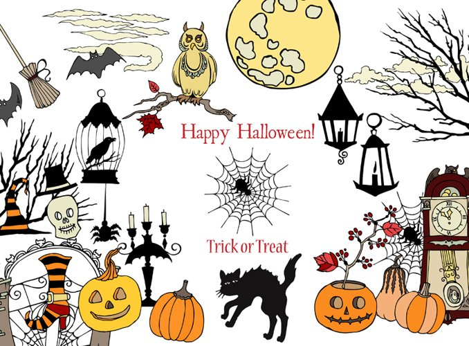 Halloween Colors Clip art